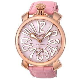 ガガミラノ GAGA MILANO MANUALE 48MM メンズ 時計 腕時計 スイス製 ガガ ミラノ 手巻き ピンク 5011.02S-PNK
