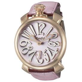 ガガミラノ GAGA MILANO メンズ 時計 腕時計 スイス製 ガガ ミラノ 手巻き ピンク 5011.02S-PNK-NEW