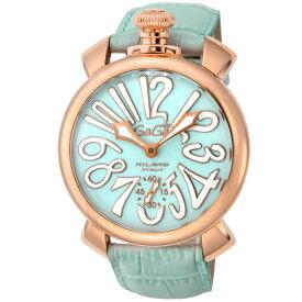 ガガミラノ GAGA MILANO MANUALE 48MM メンズ 時計 腕時計 スイス製 ガガ ミラノ 手巻き ブルー 5011.03S-LBU