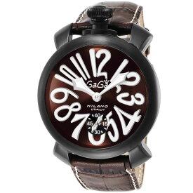 ガガミラノ GAGA MILANO MANUALE 48MM メンズ 時計 腕時計 スイス製 ガガ ミラノ 手巻き ブラウン 5012.04S-BRW