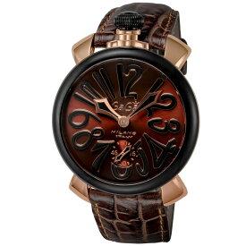 ガガミラノ GAGA MILANO MANUALE 48MM メンズ 時計 腕時計 スイス製 ガガ ミラノ 手巻き ブラウン 5014.02S-BRW