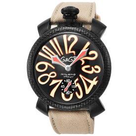 ガガミラノ GAGA MILANO MANUALE 48MM メンズ 時計 腕時計 スイス製 ガガ ミラノ 世界限定5個 手巻き ブラック 5016.9