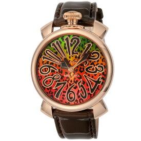 ガガミラノ GAGA MILANO MANUALE 40MM メンズ レディース 時計 腕時計 スイス製 ガガ ミラノ クォーツ マルチカラー 5021ART01-BRW