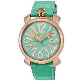 ガガミラノ GAGA MILANO MANUALE 48MM メンズ レディース 時計 腕時計 スイス製 ガガ ミラノ クォーツ ライトブルー 5021.LEHO2
