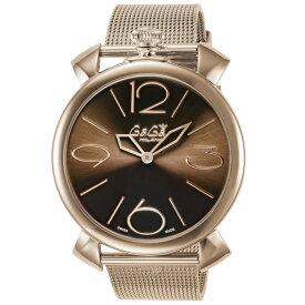 ガガミラノ GAGA MILANO メンズ 時計 腕時計 スイス製 ガガ ミラノ クォーツ ブラウン 5091.03BR