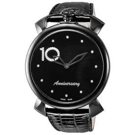 ガガミラノ GAGA MILANO メンズ 時計 腕時計 スイス製 ガガ ミラノ クォーツ ブラック 5092D-ST