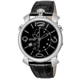 ガガミラノ GAGA MILANO THIN CHRONO 46MM メンズ 時計 腕時計 スイス製 ガガ ミラノ クォーツ ブラック 5097.01BK-NEW-N
