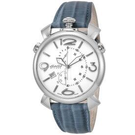 ガガミラノ GAGA MILANO THIN CHRONO 46MM メンズ 時計 腕時計 スイス製 ガガ ミラノ クォーツ ホワイト 5097.02BJ-NEW-N