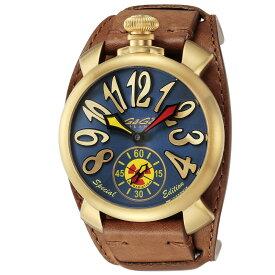 ガガミラノ GAGA MILANO メンズ 時計 腕時計 スイス製 ガガ ミラノ 手巻き ブルー 5114.MRD01TM1