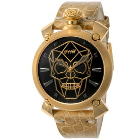 ガガミラノ GAGA MILANO MANUALE 45MM メンズ 時計 腕時計 スイス製 ガガ ミラノ 自動巻 ブラック 6014.01S