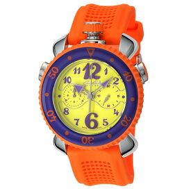 ガガミラノ GAGA MILANO CHRONO SPORTS 45MM メンズ 時計 腕時計 スイス製 ガガ ミラノ クォーツ イエロー 7010.04