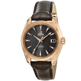 オメガ OMEGA シーマスター アクアテラ メンズ 時計 腕時計 OMS-23153392106001 高級腕時計 ブランド スイス とけい ウォッチ 新品 PURE GOLD WATCH アリゲーター革ベルト 金無垢