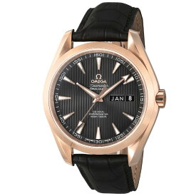 オメガ OMEGA シーマスター アクアテラ メンズ 時計 腕時計 OMS-23153432206003 高級腕時計 ブランド スイス とけい ウォッチ 新品 PURE GOLD WATCH アリゲーター革ベルト 金無垢