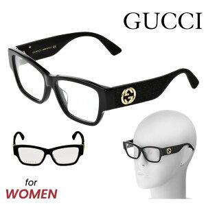 グッチ GUCCI メガネ 眼鏡 メガネフレーム レディース ファッション 伊達メガネ アイウェア アイテム 小物 黒 ブラック GG0104OA