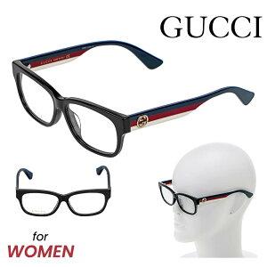 グッチ GUCCI メガネ 眼鏡 メガネフレーム レディース ファッション 伊達メガネ アイウェア アイテム 小物 黒 ブラック×トリコロール GG0278OA