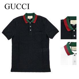 グッチ GUCCI メンズ トップス ポロシャツ 408321 X7331 4060 408321 X7331 9060 コットンポロ ストレッチコットンピケ ウェブカラー 鹿の子 ラグジュアリー ブランド イタリア シャツ