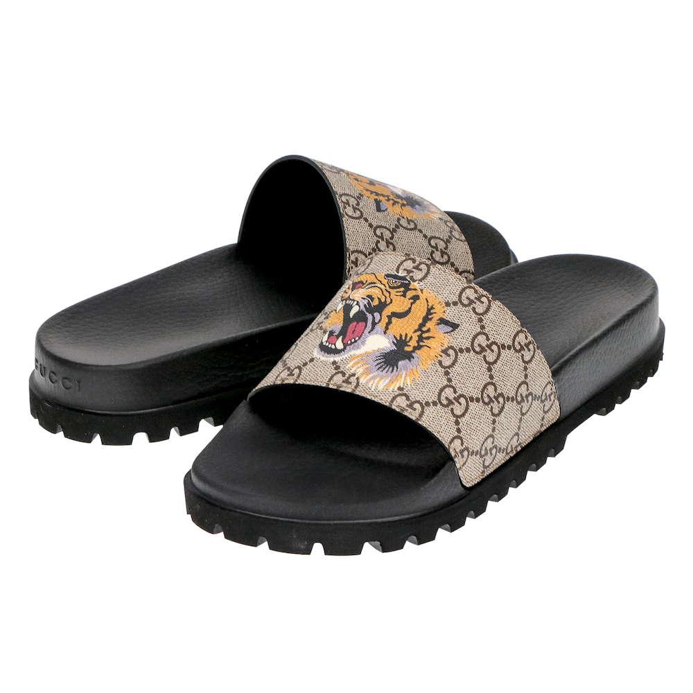 グッチ GUCCI メンズ シューズ サンダル 456234 K5Y00 8919 GGスプリーム タイガー スライドラグジュアリー ブランド イタリア ビーチサンダル トングサンダル GG 靴