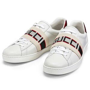 グッチ GUCCI スニーカー メンズ ストライプ レザー シューズ 523469 0FIV0 9091 ラグジュアリー ブランド イタリア ランニング スポーツ 靴 ホワイト 26cm - 29cm 大きいサイズ