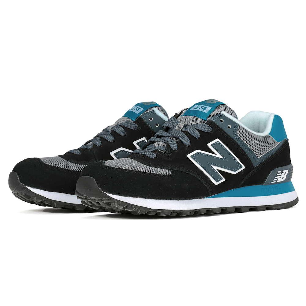 ニューバランス New Balance Classic Running ユニセックス シューズ スニーカー ML574CPU US5 23cm 574 【靴 スニーカー ユニセックス BLACK/BLUE ブラック ブルー 23.5cm】 【 574 m574 ml574 】 ローカット ランニング スポーツ ジョギング