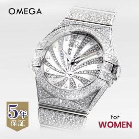 オメガ OMEGA コンステレーション レディース 時計 腕時計 コーアクシャル自動巻 ホワイト 123.55.31.20.55.007 金無垢