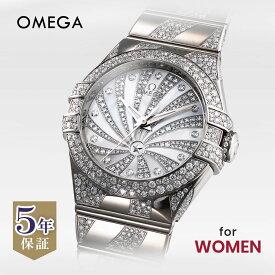 オメガ OMEGA コンステレーション レディース 時計 腕時計 コーアクシャル自動巻 ホワイト 123.55.31.20.55.009 金無垢