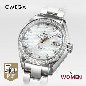 オメガ OMEGA シーマスター アクアテラ レディース 時計 腕時計 コーアクシャル自動巻 ホワイトパール 231.15.34.20.55.001