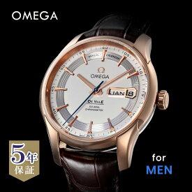 オメガ OMEGA デ・ヴィル デビル メンズ 時計 腕時計 コーアクシャル自動巻 ホワイト 431.63.41.22.02.001 金無垢