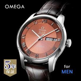 オメガ OMEGA デ・ヴィル デビル メンズ 時計 腕時計 コーアクシャル自動巻 ブラウン 433.13.41.22.10.001