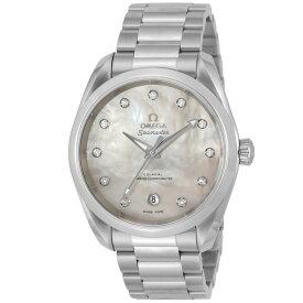 オメガ OMEGA シーマスター アクアテラ レディース 時計 腕時計 コーアクシャル自動巻 ホワイトパール 220.10.38.20.55.001