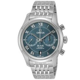 オメガ OMEGA デ・ヴィル デビル メンズ 時計 腕時計 コーアクシャル自動巻 ブルー 431.10.42.51.03.001