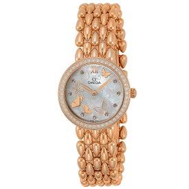 オメガ OMEGA 腕時計 デ・ヴィルドユードロップ レディース 時計 デ・ビル クォーツ ホワイトパール 424.55.27.60.55.003