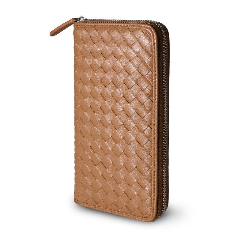 ギオネ GUIONNET ユニセックス 財布 長財布 OEM-PG101-CAM 極上の本革ラムレザーで仕上げた贅沢仕様。圧倒的な収納力を誇るイントレチャート長財布【ブランド】 ウォレット さいふ サイフ