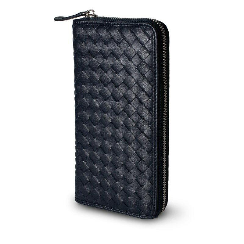 ギオネ GUIONNET ユニセックス 財布 長財布 OEM-PG101-NVY 極上の本革ラムレザーで仕上げた贅沢仕様。圧倒的な収納力を誇るイントレチャート長財布【ブランド】 ウォレット さいふ サイフ