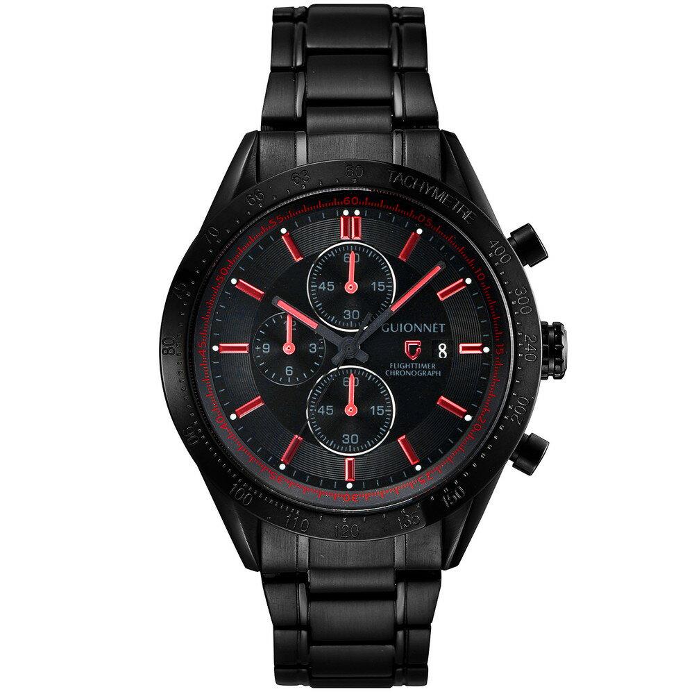 ギオネ GUIONNET フライトタイマー タキメータークロノグラフ メンズ 時計 腕時計 PG-FC42BRD を極めるレーシングクロノグラフ。この高級感、まさにエレガントスポーティーの頂点【ブランド】 とけい ウォッチ