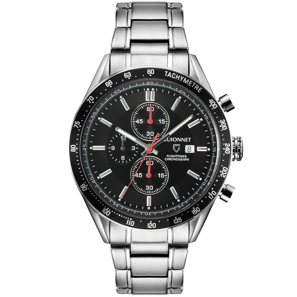 ギオネ GUIONNET フライトタイマー タキメータークロノグラフ メンズ 時計 腕時計 PG-FC42SBK を極めるレーシングクロノグラフ。この高級感、まさにエレガントスポーティーの頂点【ブランド】 とけい ウォッチ