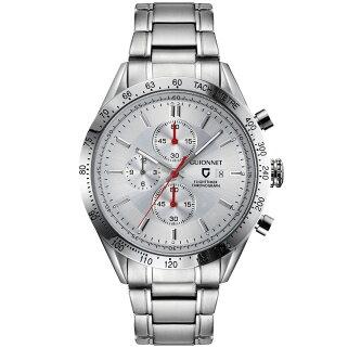 ギオネGUIONNETフライトタイマータキメータークロノグラフメンズ時計腕時計PG-FC42SSVを極めるレーシングクロノグラフ。この高級感、まさにエレガントスポーティーの頂点【ブランド】とけいウォッチ
