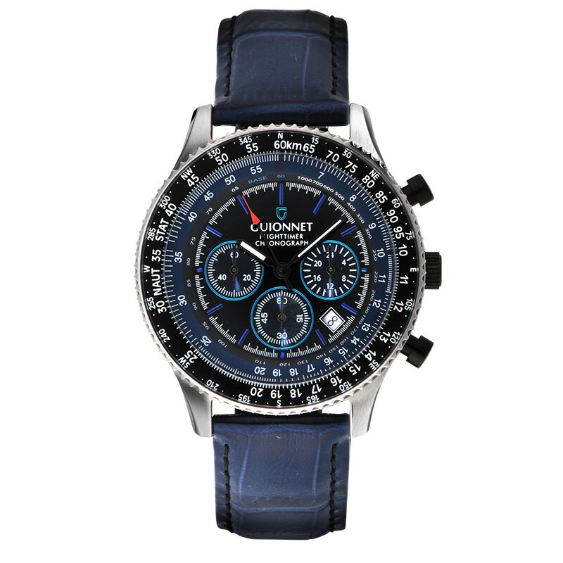 ギオネ GUIONNET フライトタイマー パイロットクロノグラフ メンズ 時計 腕時計 PG-FT42PBKBK デキるおしゃれ男が選ぶ本格パイロット・クロノグラフ FT42 フライトタイマー【ブランド】 とけい ウォッチ