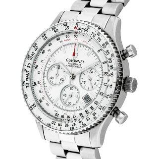 ギオネGUIONNETフライトタイマーパイロットクロノグラフメンズ時計腕時計PG-FT42SWHデキるおしゃれ男が選ぶ本格パイロット・クロノグラフFT42フライトタイマー【ブランド】とけいウォッチ