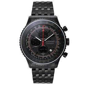 ギオネ GUIONNET Flight Timer Professional メンズ 時計 腕時計 PG-FT44BBO 【ブランド】 とけい ウォッチ 楽天1位(12月4日現在) プレゼント 送料無料 あす楽 ブルーインパルス コラボ レザーベルト 無反射コーティング