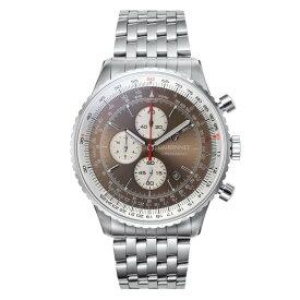 ギオネ GUIONNET Flight Timer Professional メンズ 時計 腕時計 PG-FT44SBR 【ブランド】 とけい ウォッチ 楽天1位(12月4日現在) プレゼント 送料無料 あす楽 ブルーインパルス コラボ レザーベルト 無反射コーティング