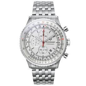 ギオネ GUIONNET Flight Timer Professional メンズ 時計 腕時計 PG-FT44SSV 【ブランド】とけい ウォッチ 楽天1位(12月4日現在) プレゼント 送料無料 あす楽 ブルーインパルス コラボ レザーベルト 無反射コーティング