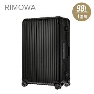 リモワ RIMOWA TOPAS STEALTH スーツケース 98L キャリーバッグ キャリーケース トパーズステルス 電子タグ e-tag ブラック 1週間 7泊 4輪 923.77.01.5