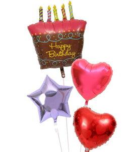 【土日祝・GW営業】誕生日 バルーン ギフト 浮いて届く ヘリウムガス入り 電報 バースデー お祝い パーティー 飾り 付け プレゼント 風船 誕生日ブーケ85 誕生日ケーキ バースデーケーキ ハ