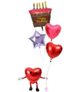 【土日祝・GW営業】誕生日 バルーン ギフト 浮いて届く ヘリウムガス入り 電報 バースデー お祝い パーティー 飾り 付け プレゼント 風船 誕生日ブーケ86 誕生日ケーキ バースデーケーキ 即