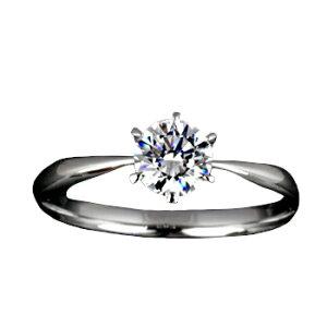 『Pt900空枠』婚約指輪用空枠ティファニー爪タイプ0.3ct ダイヤモンド用 Pt900