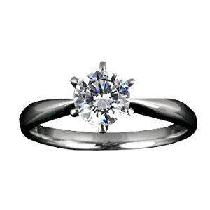 『Pt900空枠』婚約指輪用空枠ティファニー爪タイプ0.5ct ダイヤモンド用 Pt900