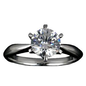 『Pt900空枠』婚約指輪用空枠ティファニー爪タイプ1.0ct ダイヤモンド用 Pt900