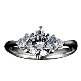『Pt900空枠』婚約指輪用空枠6本爪タイプ1.0ct ダイヤモンド用 Pt900