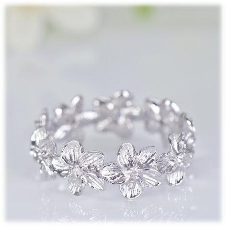 ダイヤモンド リング【K18WG】【K18YG】【K18PG】フラワー (花びら) モチーフ