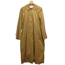 エルメス ロングコート サイズS 着丈116cm ブラウン系 茶色 ステンカラー ポリエステル HERMES ブランド アパレル【中古】